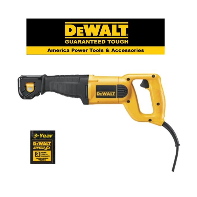 DEWALT DW304PK-4 POSITION RECIPROCAT SAW KIT WOOD METAL WALL CUTTER