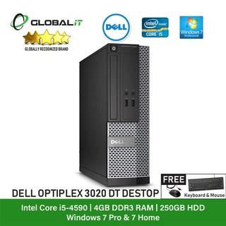Refurbished Desktop) Dell Optiplex 3020 Desktop / Intel i5-4590