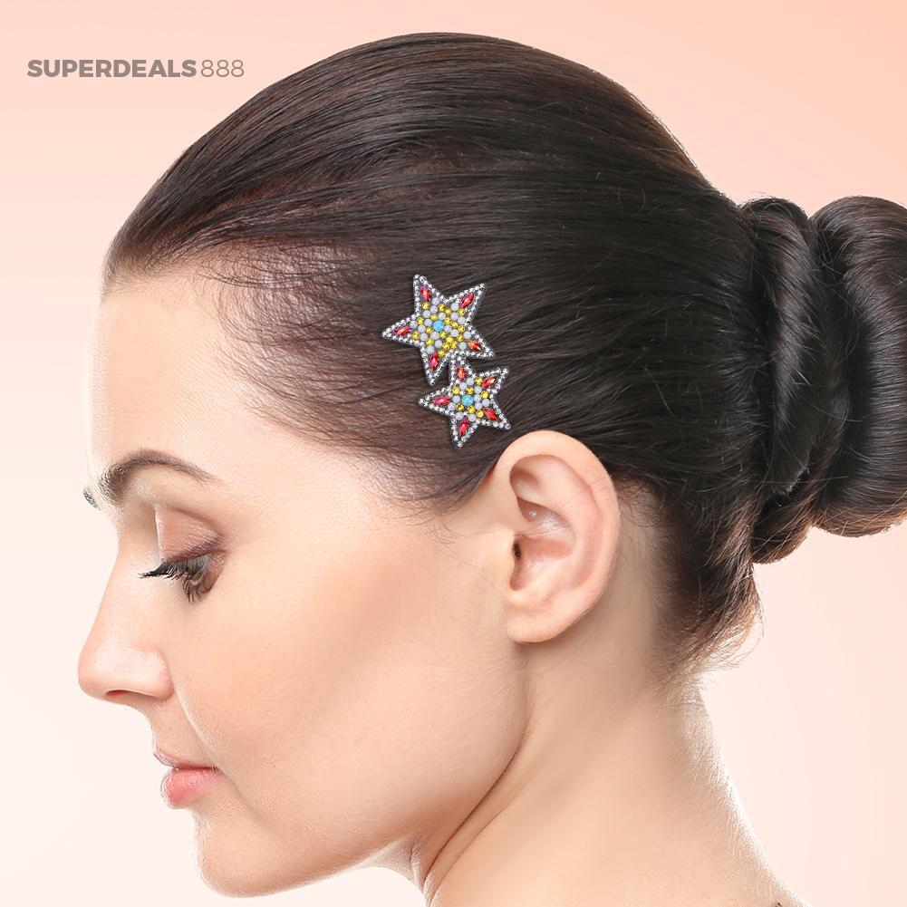 3pcs DIY Full Drill Diamond Painting Hair Clips Women Bobby Pin Hairpins Jewelry