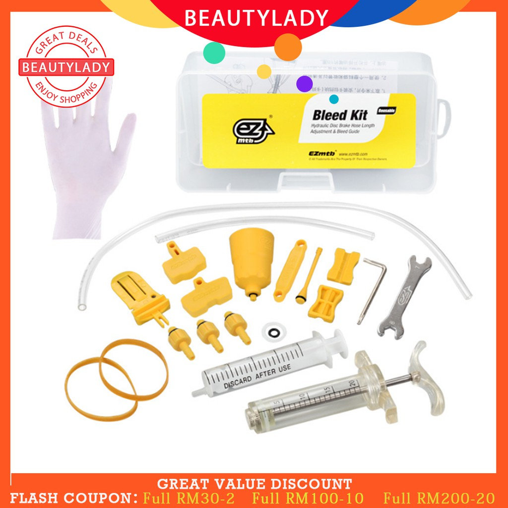 Bicycle Hydraulic Disc Brake Mineral Oil Bleed Kit Tools