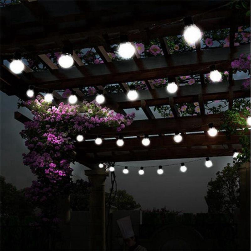 White String Christmas Lights.10leds Outdoor Garland 5cm Big Ball Led String Light Black Wire Christmas Lights