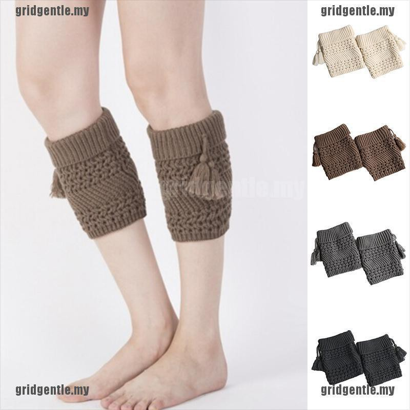 New Women Ladies Winter Warm Leg Warmers Cable Knit Knitted Crochet Long Socks