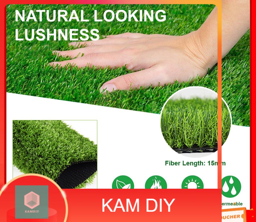 High Quality 15MM Fake Grass Carpet Artificial Rumput Indoor Outdoor Decor