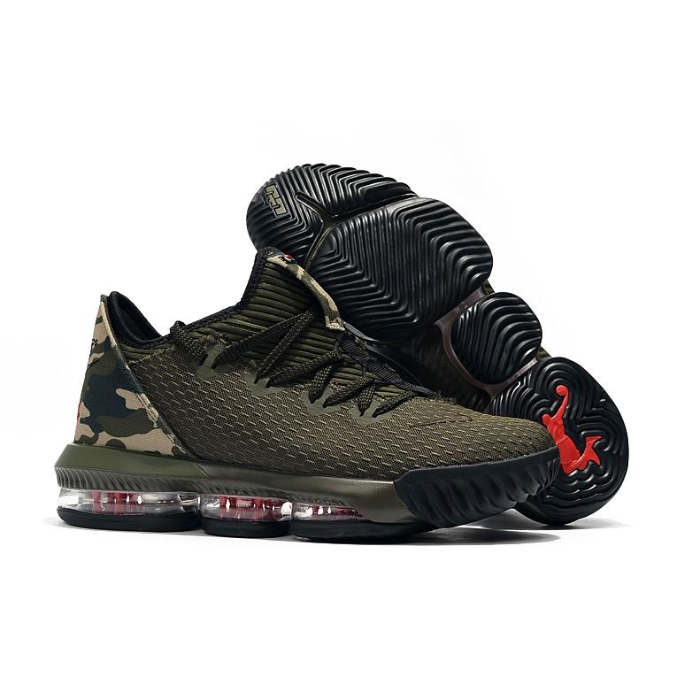 online retailer a9038 12e4e Original Nike LeBron 16 Low James 16 Army Green Lower Gang