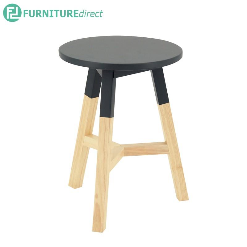REBA solid wood stool in Scandinavian design/ stool/ wooden stool/ stool kayu