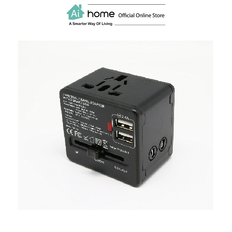 SOUNDTEOH TA-125 Universal Adapter With 2 USB with 2 Year Malaysia Warranty [ Ai Home ]