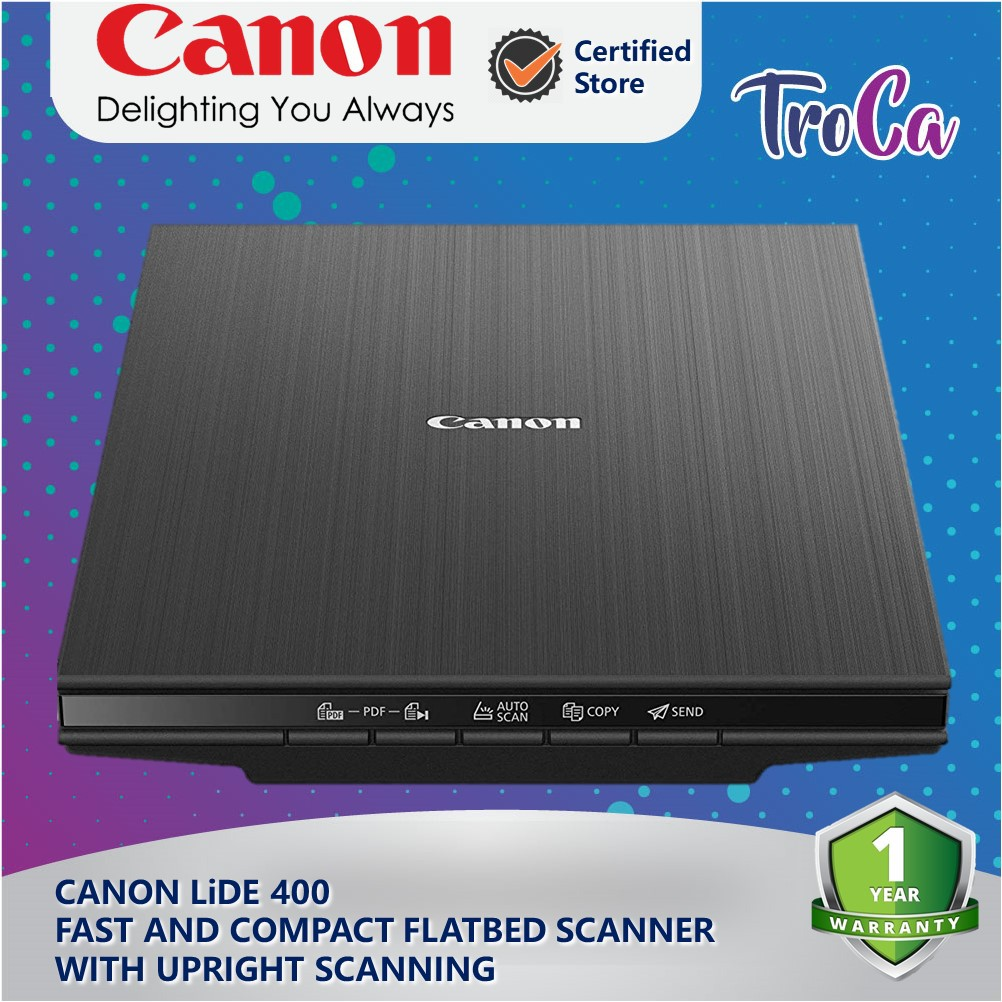 Canon LIDE 400 Flatbed Document and Photo Scanner with Upright Scanning  (Black)