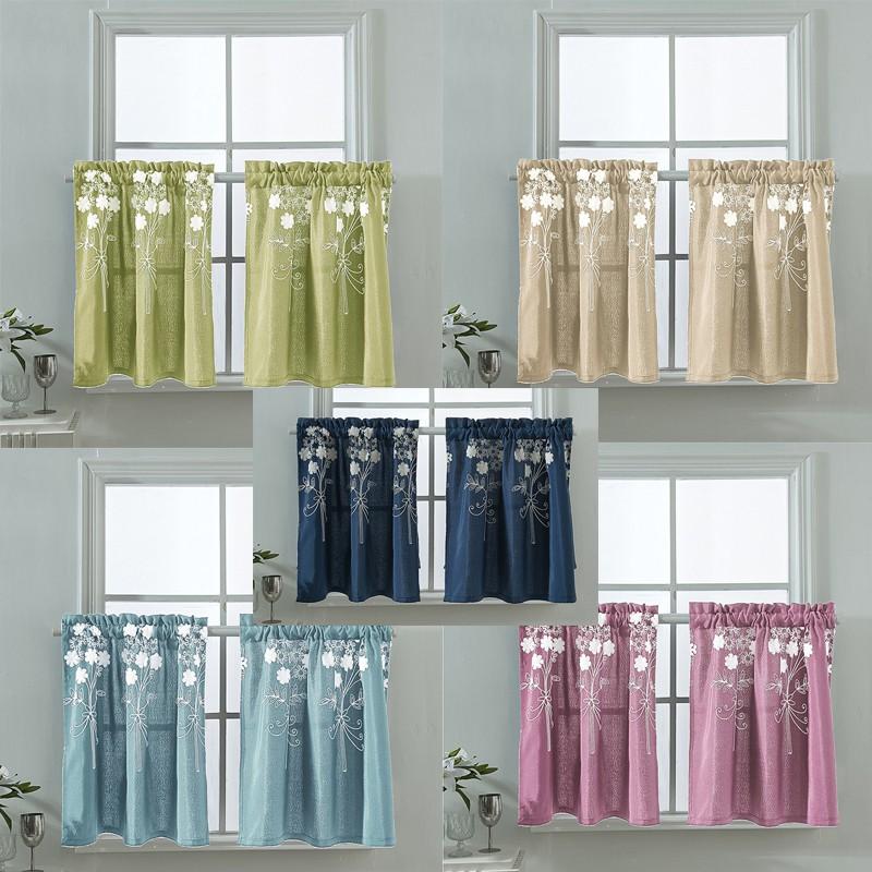 Rod Pocket Short Window Curtains