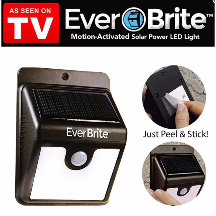 ASOTV Outdoor Safety Solar Charged Everbrite Motion Activated LED