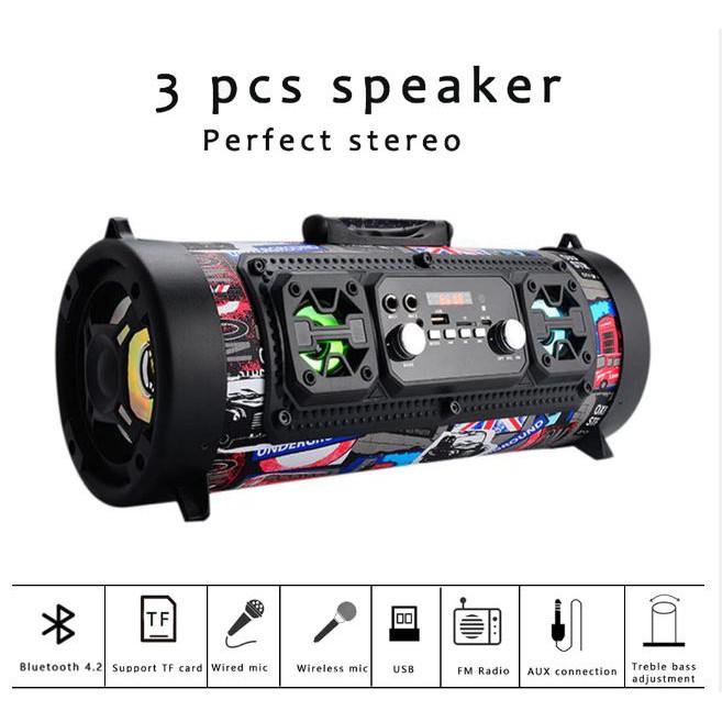 M17 outdoor portable Bluetooth speaker subwoofer wireless speaker FM radio U disk / TF card