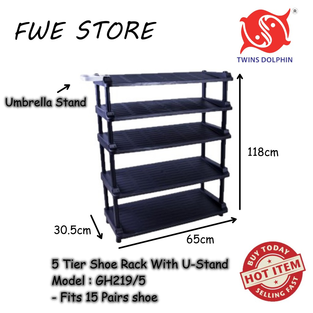 Twins Dolphin 5 Tier Shoe Rack With U-Stand (FOR HOME