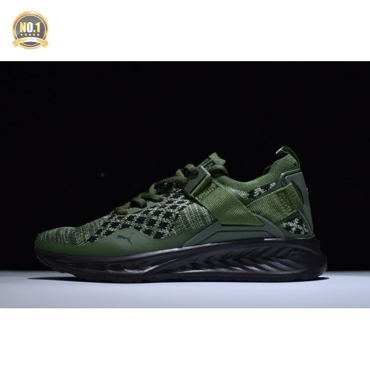 buy popular 124a7 92ba3 Fashion 2018 Puma Ignite Evoknit Lo Running Shoes Men Women Green Army 36-44