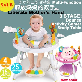 COLOR TREE Babys View 3-Stage Spin 360 Seat /& Activity Center Baby Bouncer Rocking Seat Chair,White