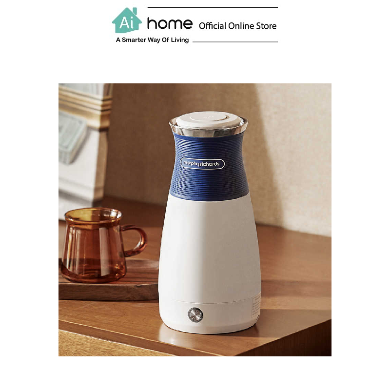 MORPHY RICHARDS Smart Travel Portable Kettle MR6080 (White) with 2 Year Malaysia Warranty [ Ai Home ]