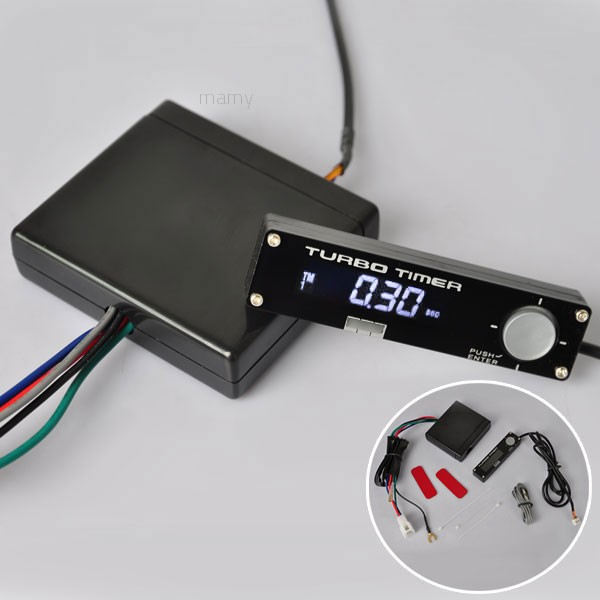 ✨mamy1✨White LED Digital Display Auto Turbo Timer Relay ... on