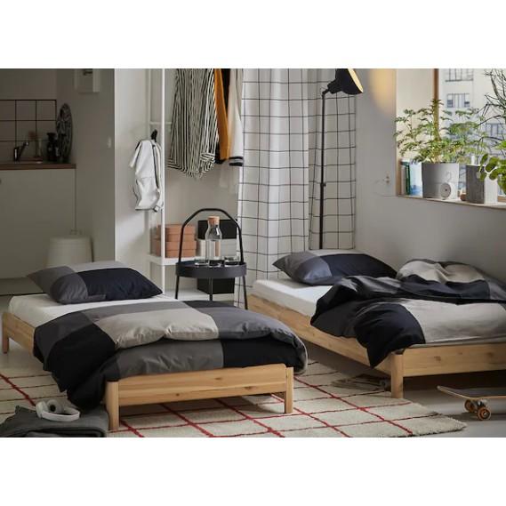 Katil Single Ikea Stackable Bed Pine