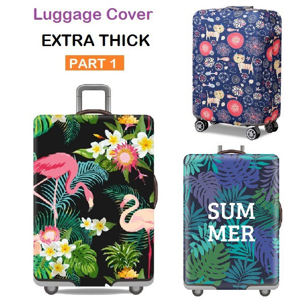 GIOVANIOR Lotus Luggage Cover Suitcase Protector Carry On Covers