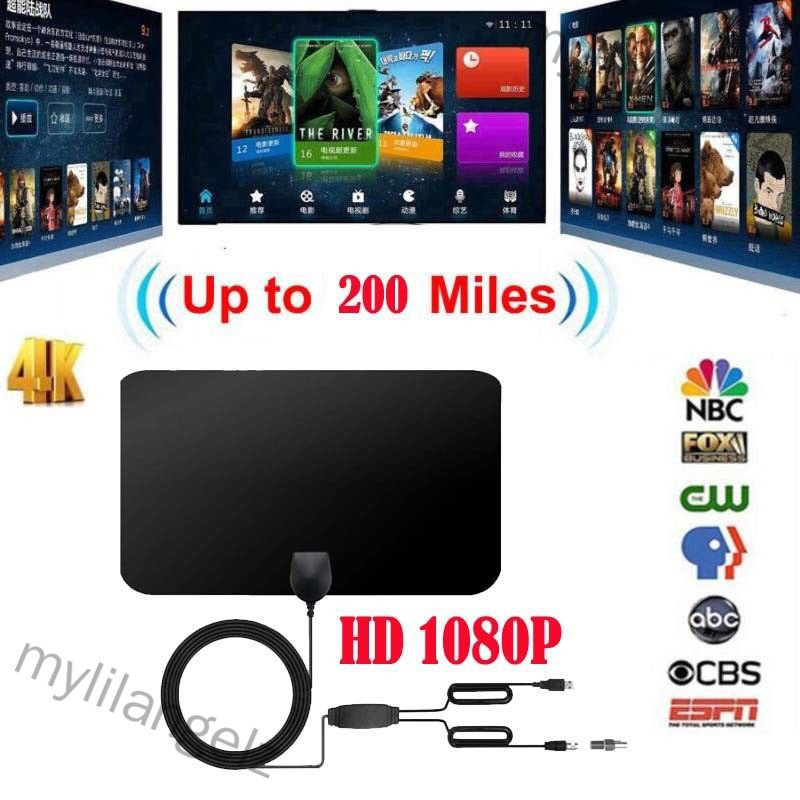 Mylilangelz 1080P 200 Mile Range Antenna TV Digital HD Skywire 4K Antena Digital Indoor HDTV