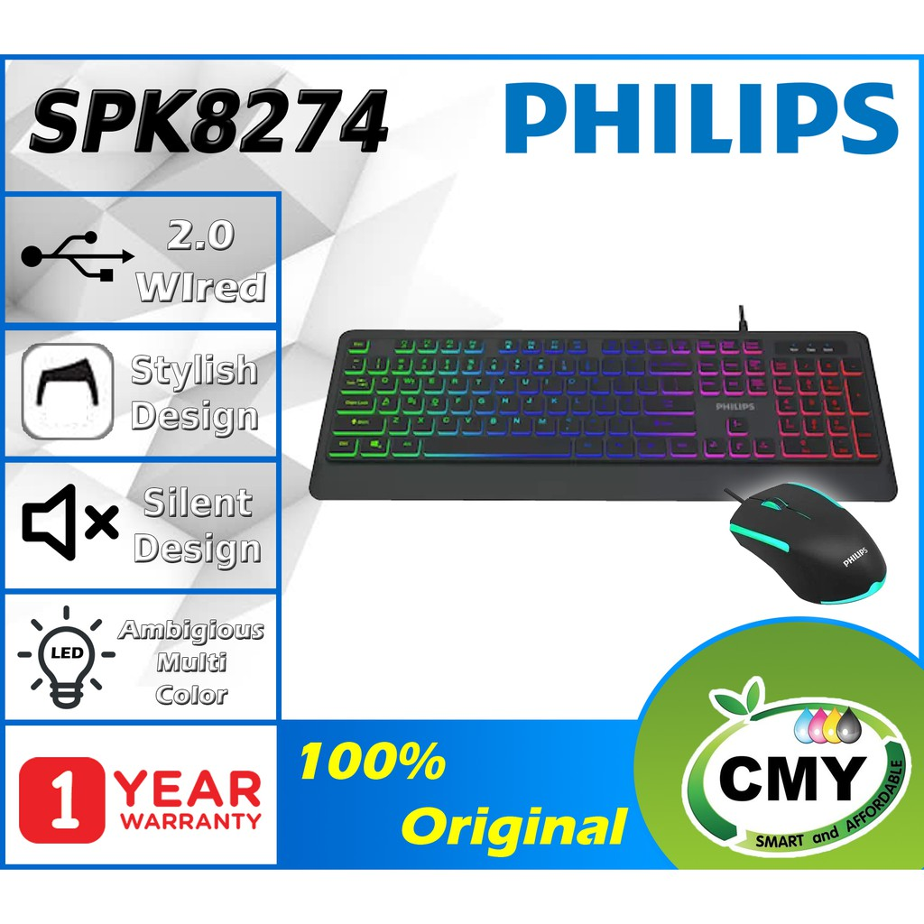PHILIPS G274 SPK8274 - WIRED USB KEYBOARD WITH LIGHTNING