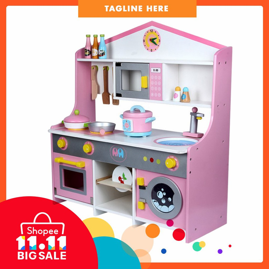 Toy Wooden Exquisite Stove Set Playsets