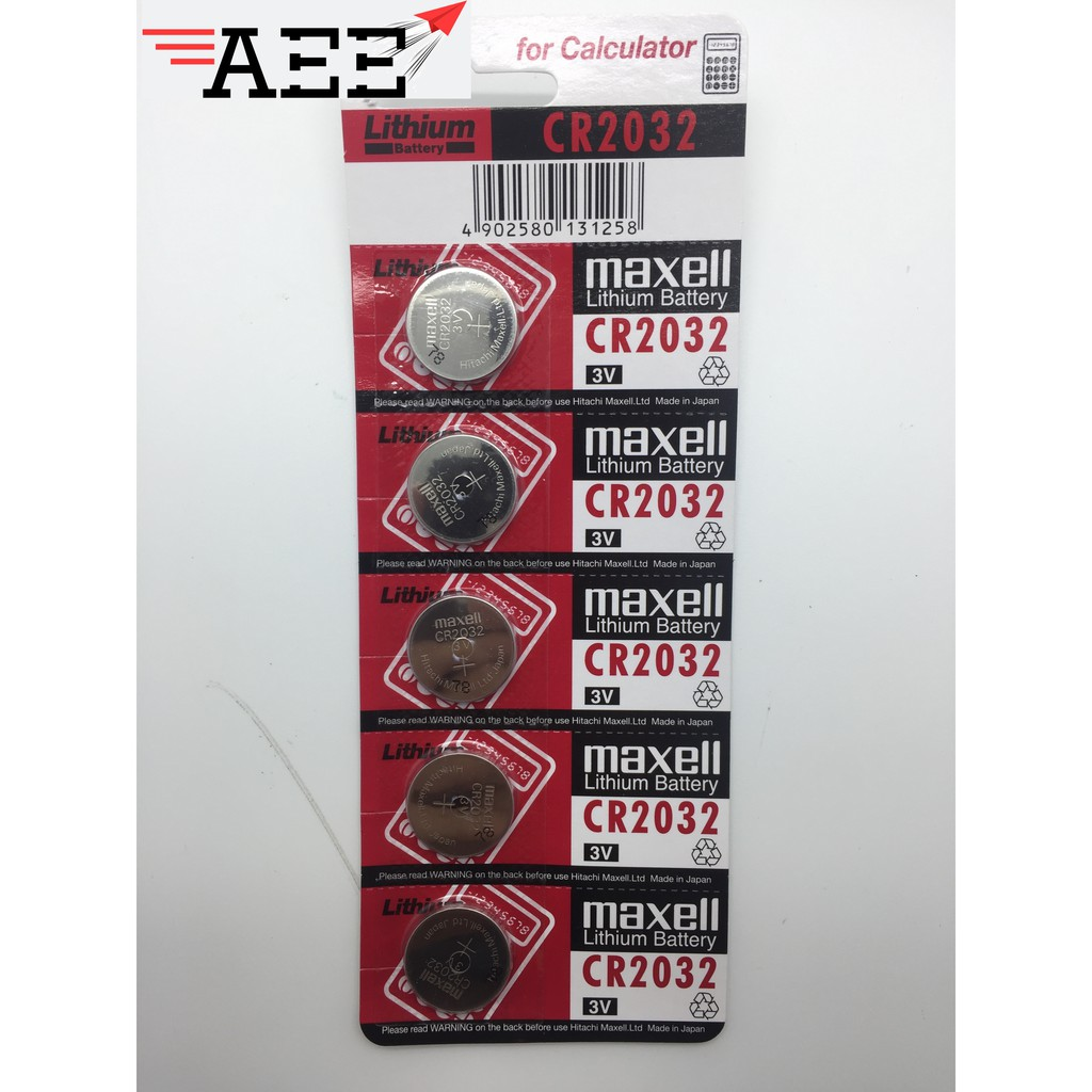 CR2032 Maxell Lithium Battery Coin Cell (1pc / 5pcs)