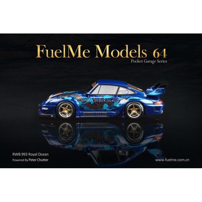 """FuelMe 1//64 RAUH-Welt Porsche RWB993 Black """"Sopranos"""" Limited 999 In stock"""