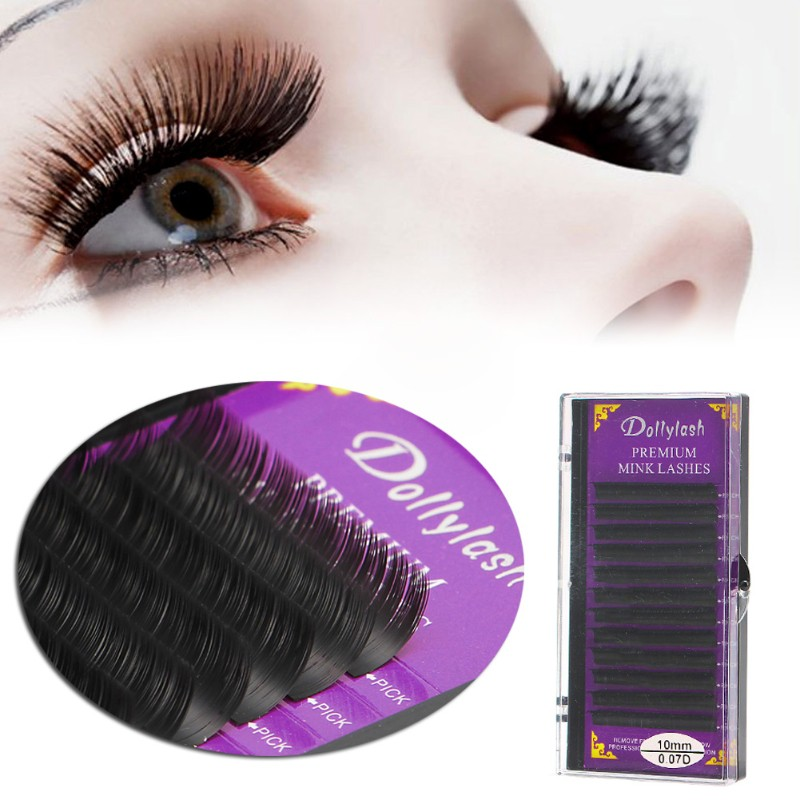9ab1c9a4005 xi*Blink Mink Tray Lash 0.07mm B C D J Curl For Individual Eyelash ...