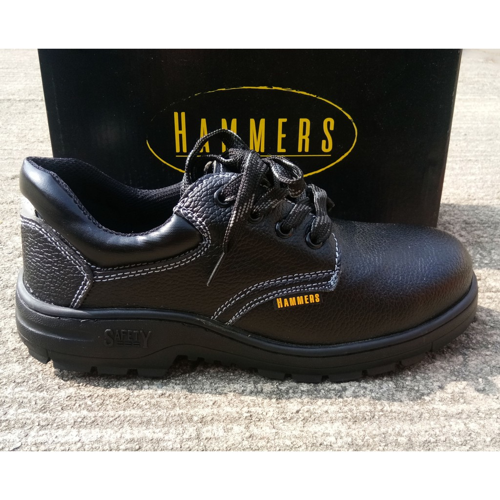Safety Shoes Steel Toe Cap Mid Sole Low Cut Black Safety Boots Kasut Safety