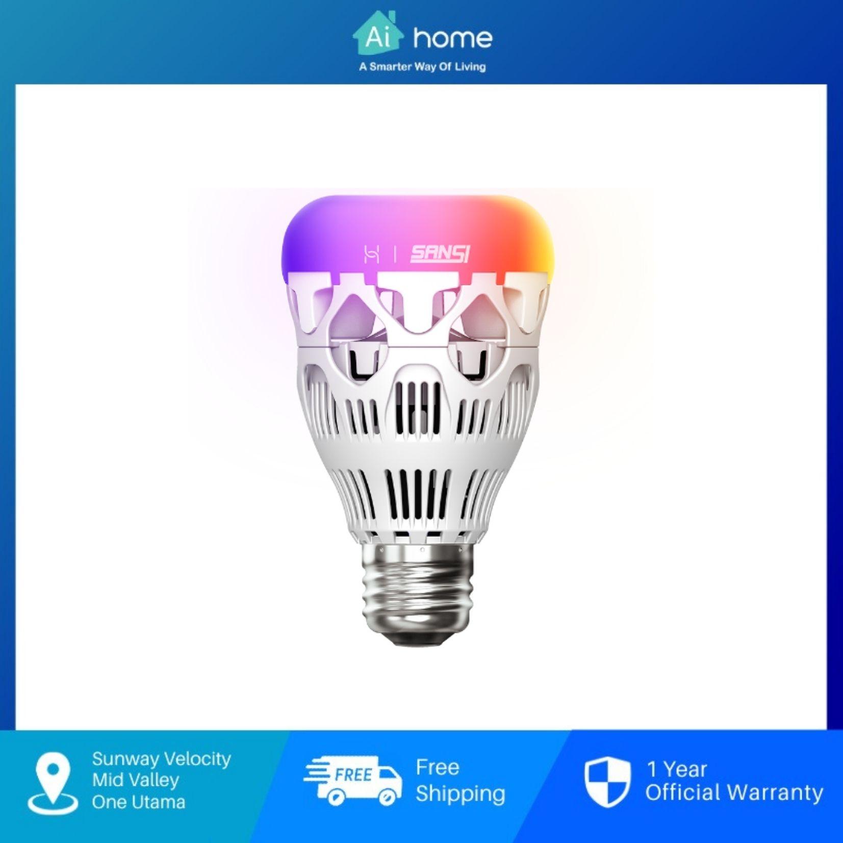 HUAWEI x SANSI Colorful Energy Saving Smart Light Bulb - CN Version   10W   Intelligent LED Full Color Bulb [ Aihome ]