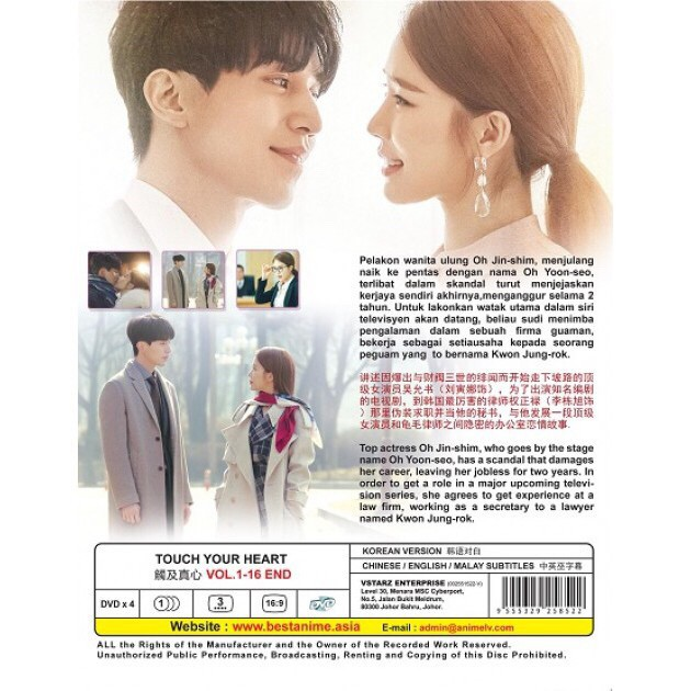 KOREAN DRAMA TOUCH YOUR HEART 觸及真心 ( VOL 1 - 16 END DVD