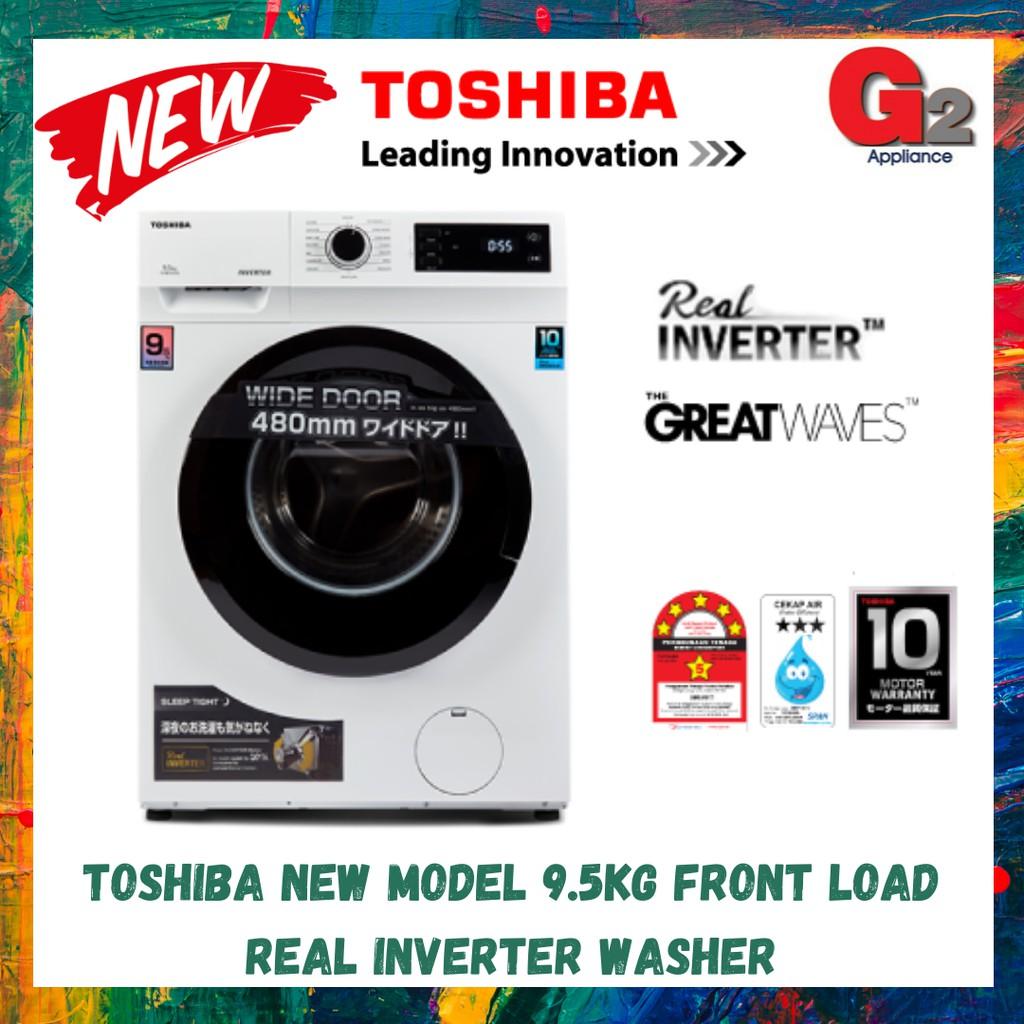 TOSHIBA (NEW) (9.5KG) INVERTER WASHER TW-BK105S2M - TOSHIBA WARRANTY MALAYSIA