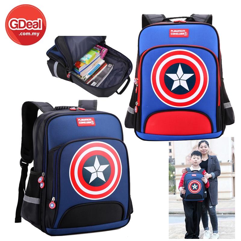 Children's Backpack Multi-Layer Large Capacity 1-3-6 Grade Schoolbag Primary School Cartoon Wear-Resistant Schoolbag