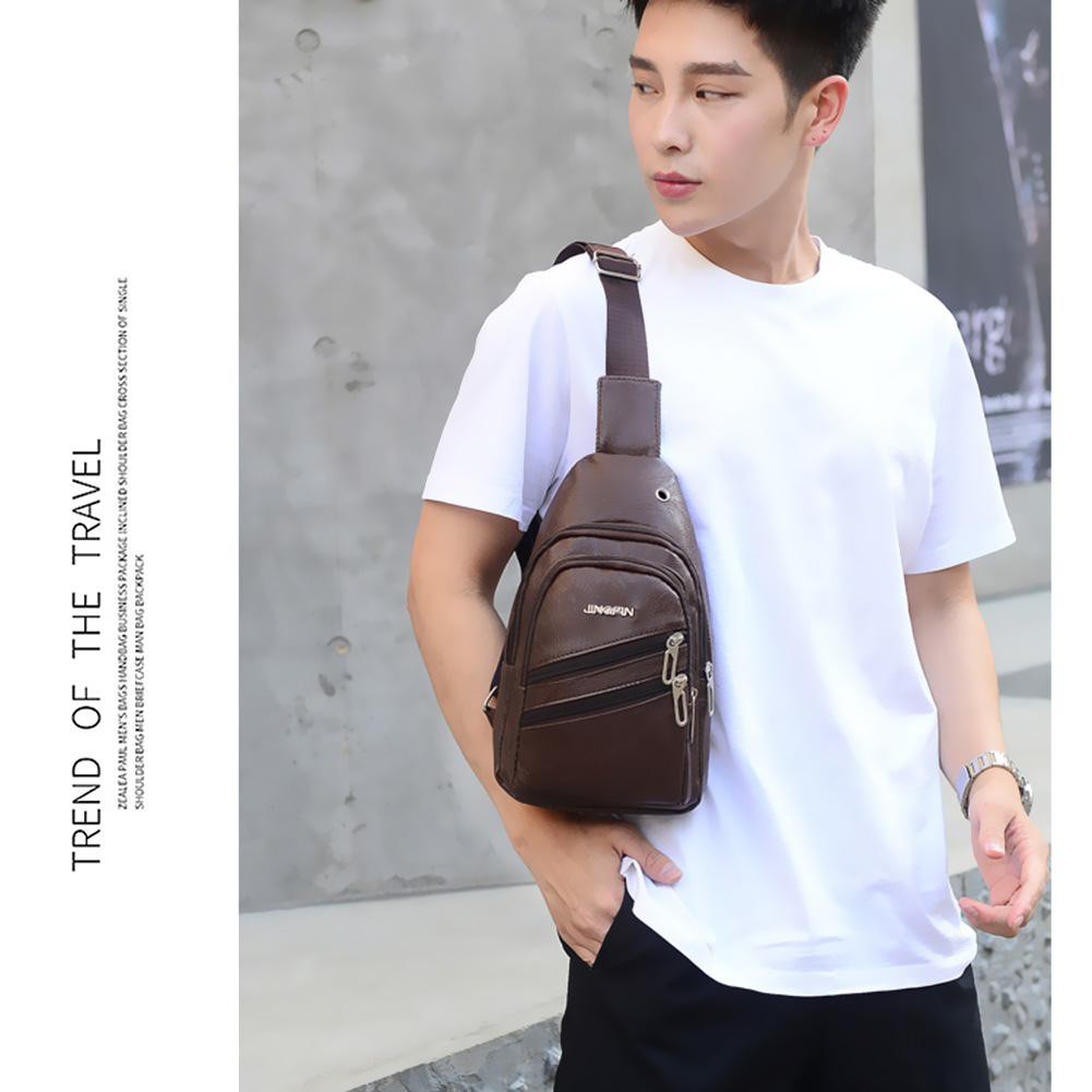 Men/'s PU Leather Messenger Bags Crossbody Casual Shoulder Bag Briefcase Bookbag