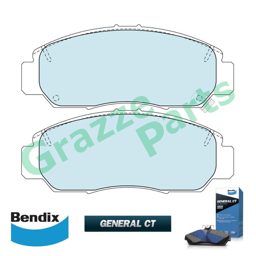 Bendix General CT Brake Pad Front DB1515- Honda Accord SDA TAO Civic FD SNA BRV