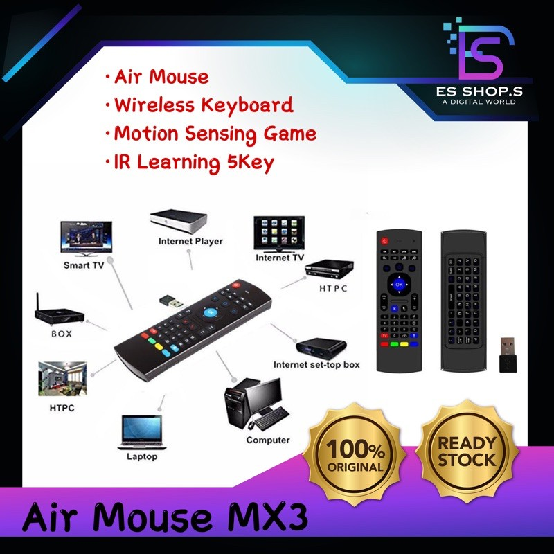 MX3 Airmouse Air Mouse Wireless Keyboard Remote Android