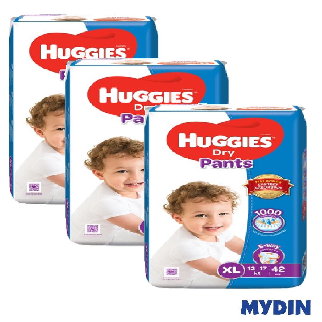 Huggies Dry Pants XL42 x 3 Packs (126's)