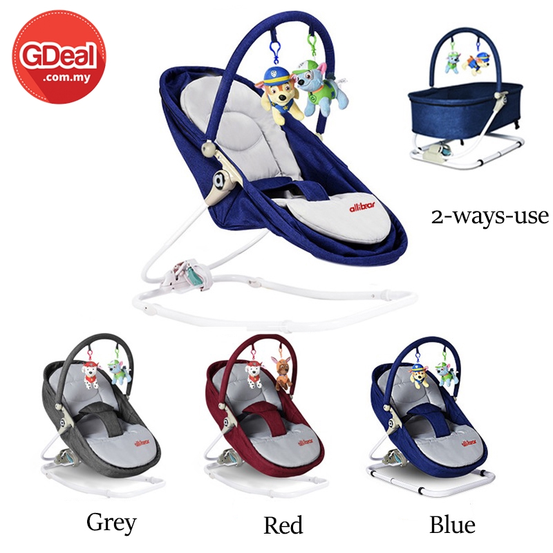 GDeal Foldable 2 Ways Use Baby Cradle Snooze Rocking Chair Manual Swing Portable Infant Sleeping Seating Feeding