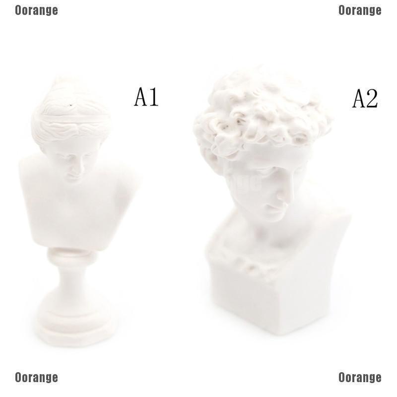 Dollhouse Miniature Resin Statue Venus David Bust  Sculpture White