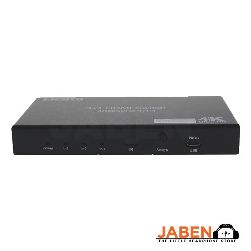 Kameha KA145 3 Input 1 Output 4K 60Hz Supported HDMI 2.0 YUV4:4:4 Remote Control HDMI Switch [Jaben]