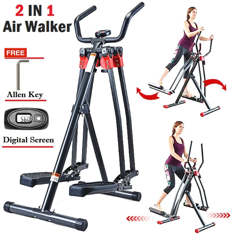 Air Walker Slim Strider Elliptical Trainer Slimming Fitness Exercise Machine 360 Motion Fat Burning Cardio Workout