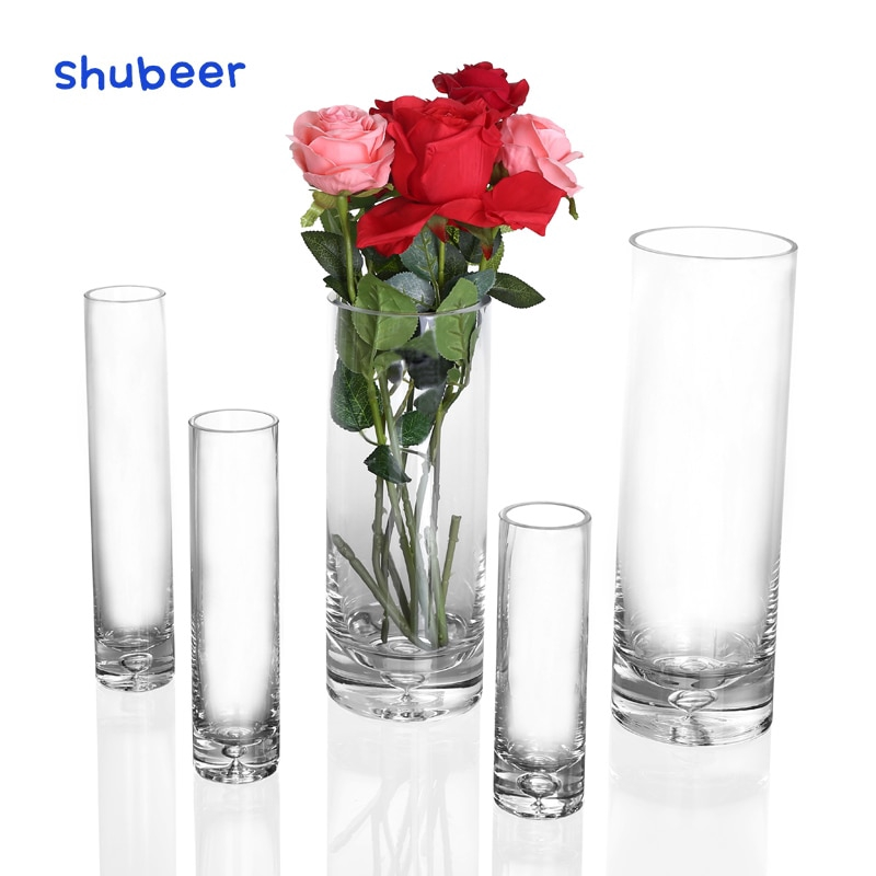 1pcs Small Flower Vase Tall Transparent Vases For Wedding Centerpieces Home Table Decoration Shopee Malaysia