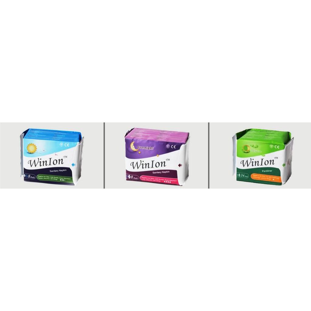 [Genuine] Winalite Winion Sanitary Pads with Anion Stripe Pack (Day, Night, Pantyliner) 月月爱