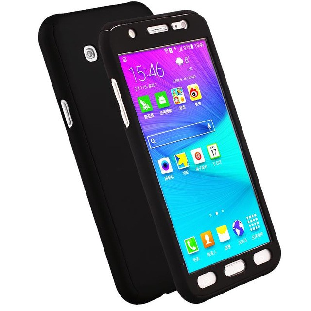 on sale 640c1 37cad Samsung Galaxy J5 2015 J5008 SM-J500F J500 J500F 360 Full Protection Case  +GLASS