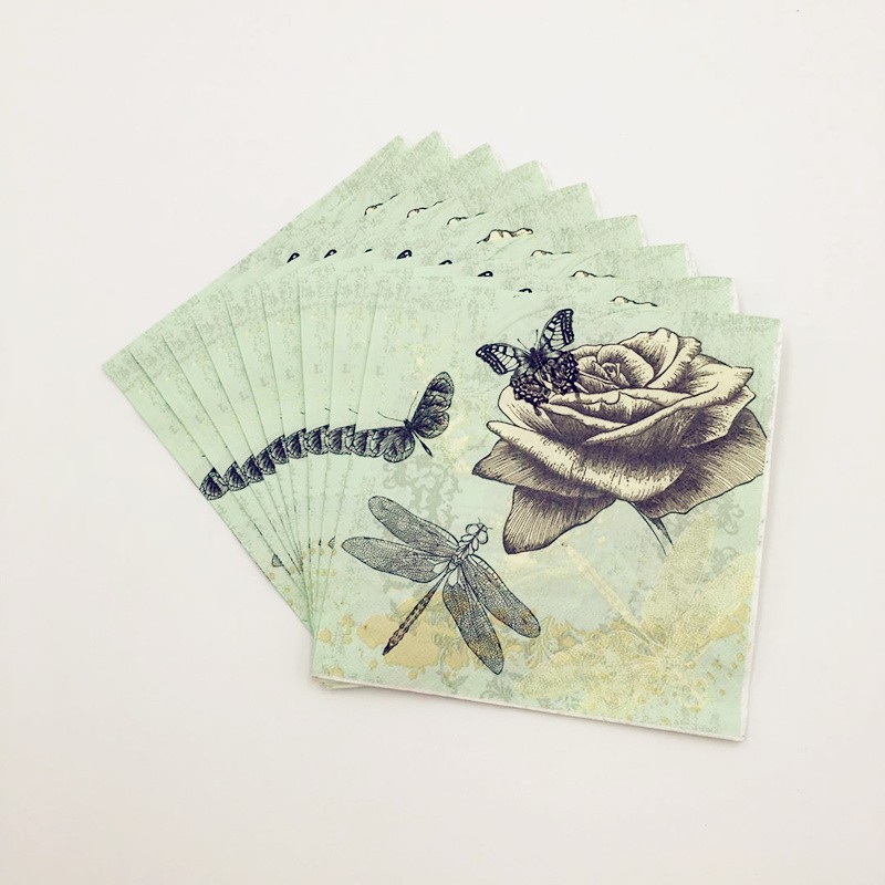 Kawaii Owl Flower Dinosaur Paper Napkin Kid Child Birthday Party Table Decor