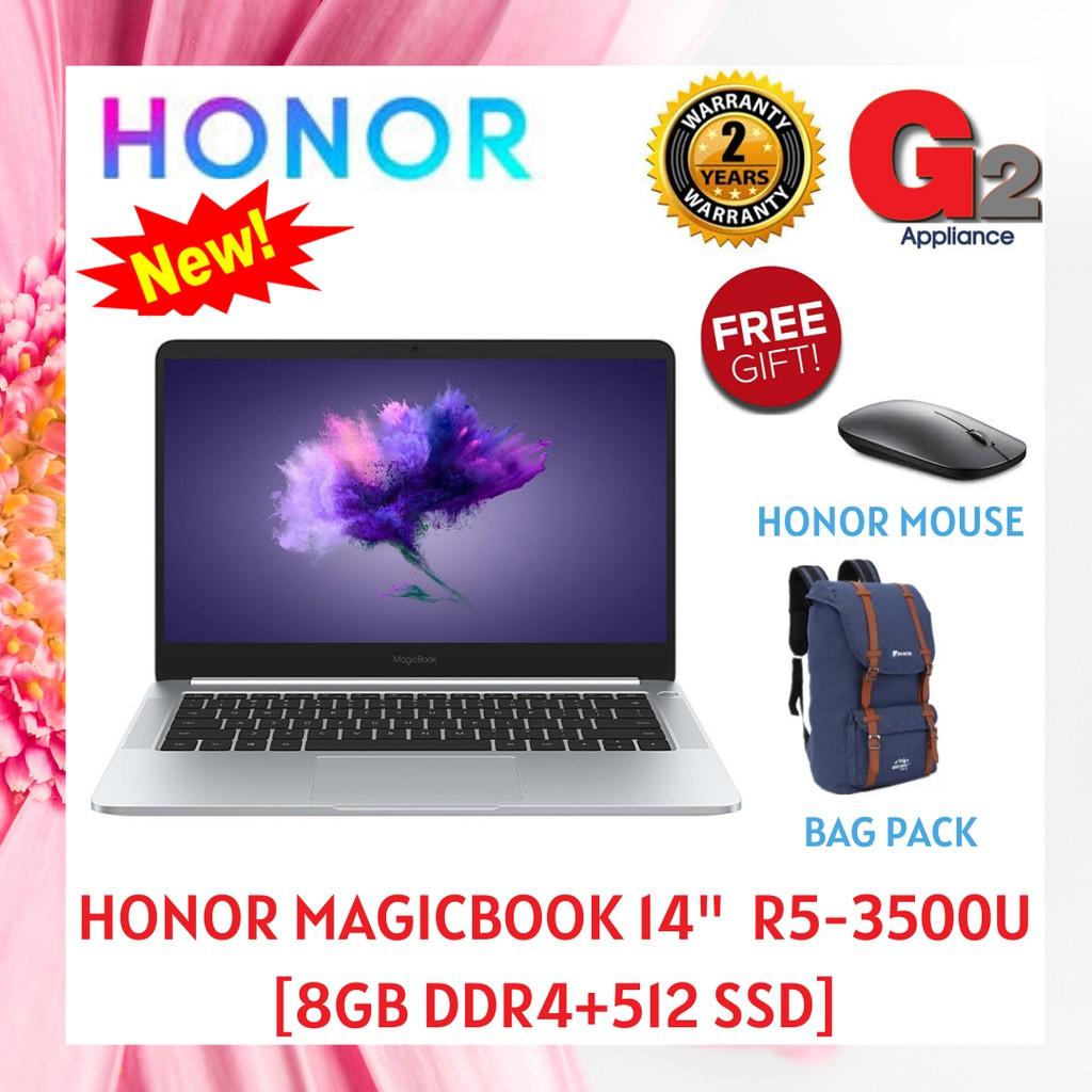 "HONOR (Ready Stock+Shipping in MCO Period) MAGICBOOK 14"" R5-3500U [8GB DDR4+512 SSD] - 2year WARRANTY"