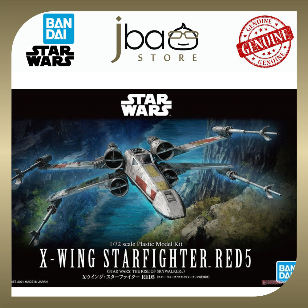 Bandai 1/72 X-WING STARFIGHTER RED5 STAR WARS THE RISE OF SKYWALKER Plastic Model Kit