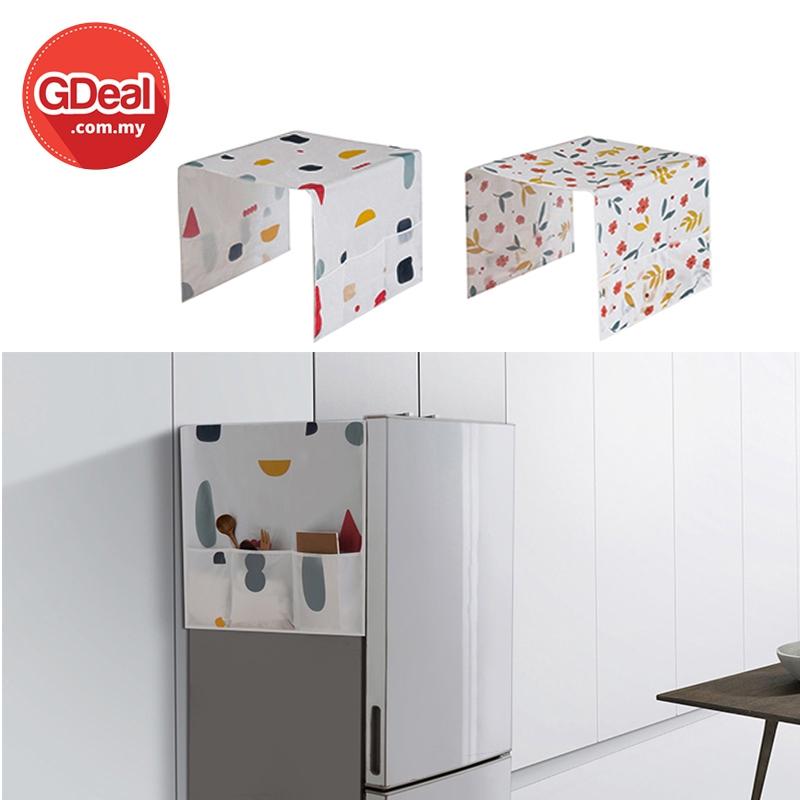 GDeal Refrigerator Dust Cover With Waterproof Storage Bag Alas Habuk Peti Sejuk الس هابوق ڤتي سجوق