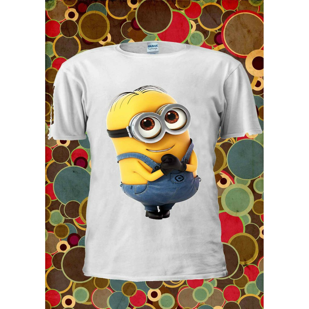 Cute Personalised I Love Minion T-Shirt Girls Boys Top Childs Tee age size gift