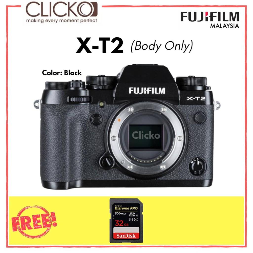 Used Fujifilm X T2 Mirrorless Digital Camera Body Only Shopee Xt2 Malaysia