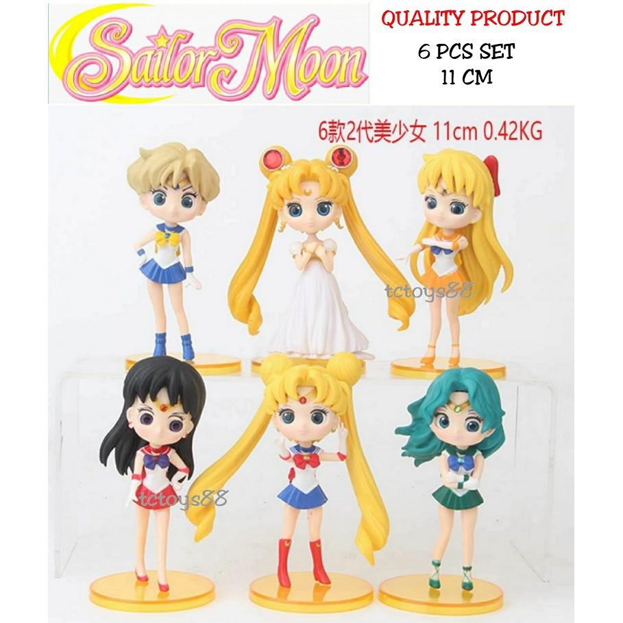 9f219d01c0ef3 Sailormoon Action Figure Sailor Moon Figurine Sailor Mars Figure Toy 6pcs  set